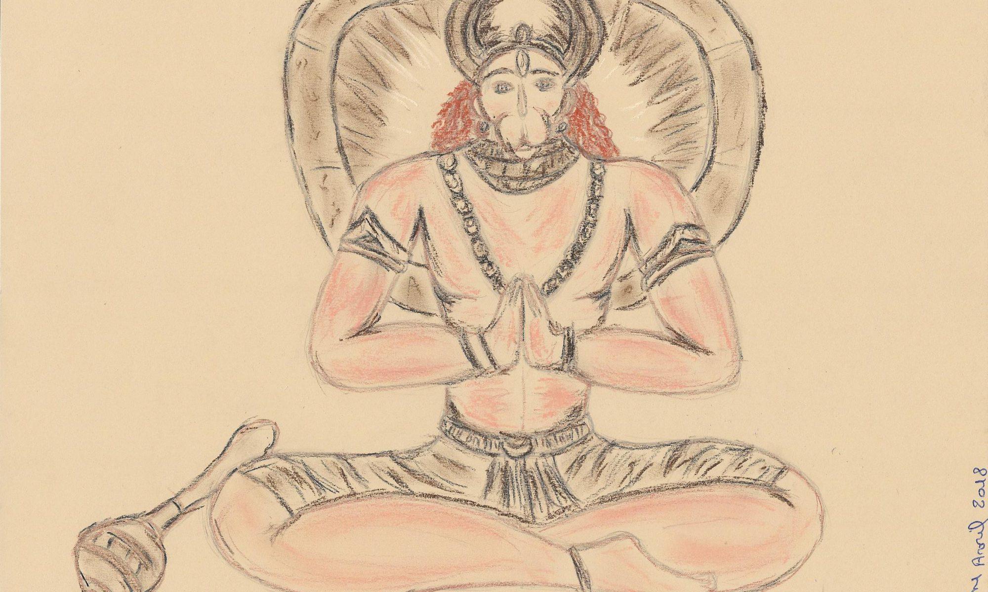 dessin Hanuman